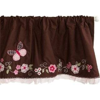 Carters Butterfly Flowers Valance, Pink / Choc, 60 X 14