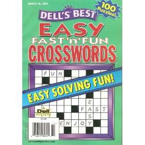 Dells Best Easy Fast N Fun Crosswords (Easy solving fun