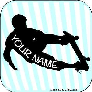Skateboard Guy with Custom Name Wall Decal Stickers Art Graphics Item