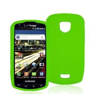 Neon Green Silicone Rubber Gel Soft Skin Case Cover for Samsung Droid