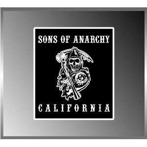 Black Background Sons of Anarchy Motorcycle Gang Logo California Vinyl