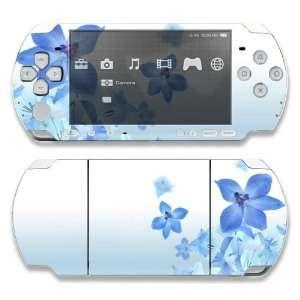 Sony PSP 1000 Skin Decal Sticker  Blue Neon Flower