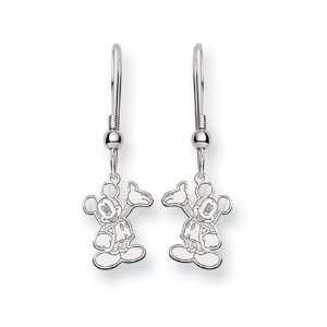 Disneys Waving Mickey Mouse Earrings in Sterling Silver Jewelry