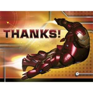 Iron Man Thank You Cards (8 count) Party Accessory Toys