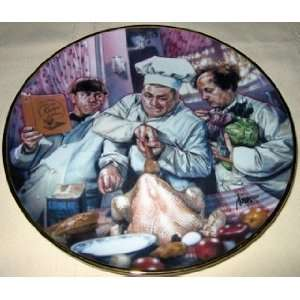 The Three Stooges Plate   Franklin Mint Collectors Plates