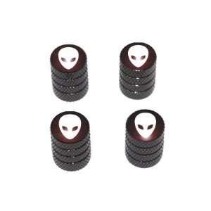 Alien   Tire Rim Valve Stem Caps   Black Automotive
