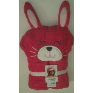 Carters Girl Pink Bunny Hooded Towel