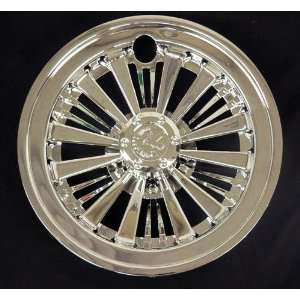 (4) 10 Chrome Wheel Covers Golf Cart Yamaha, Club Car