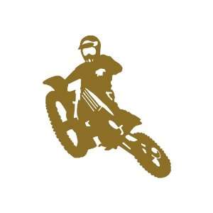 Motocross GOLD vinyl window decal sticker