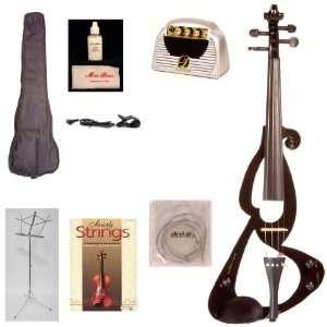 Music Basics Electric Violin   Black (VLN E10 Black 2 Watt