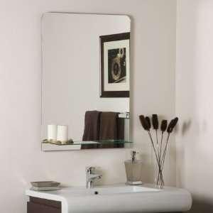Decor Wonderland SSM114 Columbus   Frameless Wall Mirror, Etched Glass