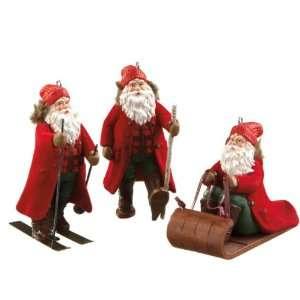 Pack of 6 Mountain Man Santa Winter Sports Christmas
