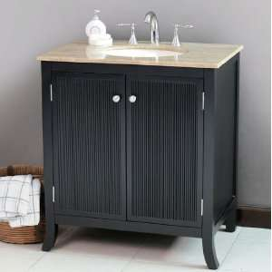 LS 1031 32 Black Single Bathroom Wooden Vanity: Home Improvement