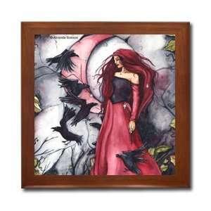 Seven Ravens Ceramic Wood Tile Box AIS23BX By Abranda