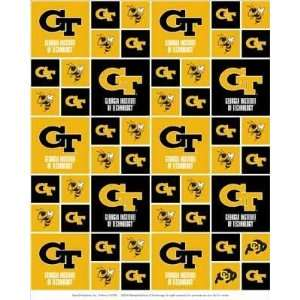 Georgia Tech Yellow Jackets Fabric By The Yard: Arts, Crafts & Sewing