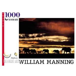 Manning Elephants Jigsaw Puzzle 1000pc Toys & Games