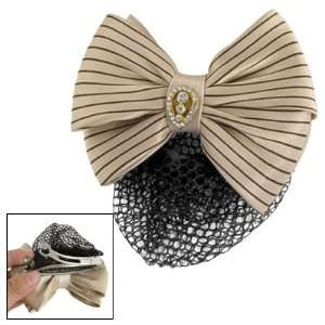 Decor Apricot Bow Accent Hair Clip for Women