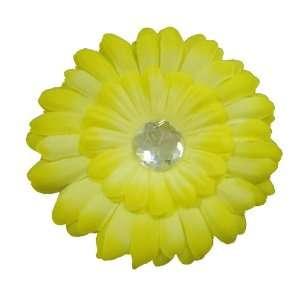 Yellow Daisy Flower Hair Clip
