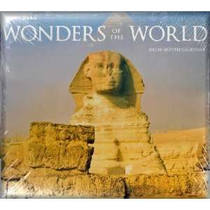 2012 Wonders of the World Wall Calendar