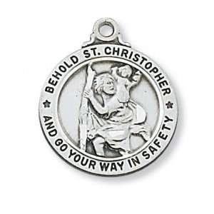 St. Saint Sterling Silver St Saint Medal St. Saint Christopher L603SS