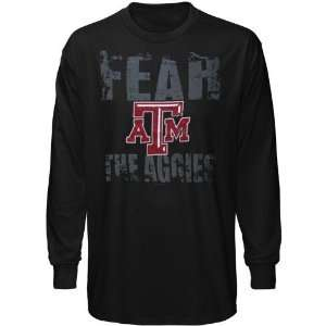 NCAA Texas A&M Aggies Black Fear Long Sleeve T shirt