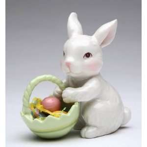 Fine Porcelain Blossom Bunny Collectible   Bunny with