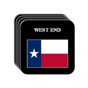 US State Flag   WEST END, Texas (TX) Set of 4 Mini Mousepad Coasters