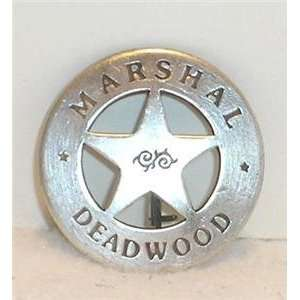 Marshal Deadwood Obsolete Old West Police Badge
