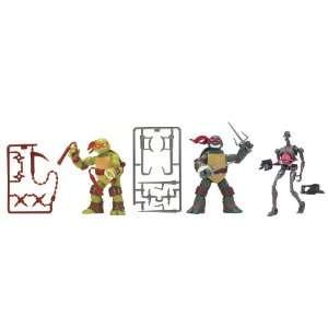 Teenage Mutant Ninja Turtles Basic Figure 3 Pack Bundle (Mikey, Raph