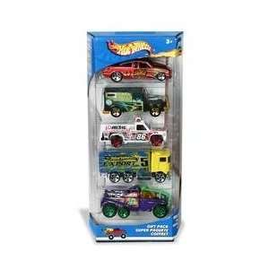 Hot Wheels 5 Car Gift Pack Hot Haulers Toys & Games