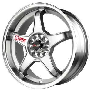 Drag DR 8 Silver Machined Wheel (17x7/4x100mm)