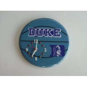 DUKE BLUE DEVILS BASKETBALL WALL CLOCK