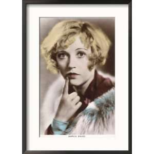 Marion Davies American Film Actress with a Questioning Look on Her