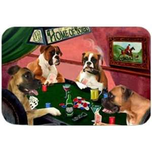 Home of Boxers Cutting Board Four Dogs Playing Poker: