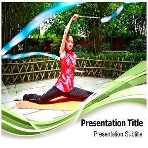 Gymnastic Woman Powerpoint Templates   Gymnastic Woman