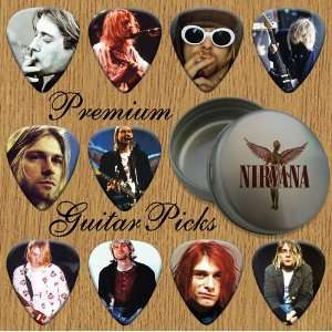 Nirvana Kurt 10 Premium Guitar Picks In Tin (0): Musical