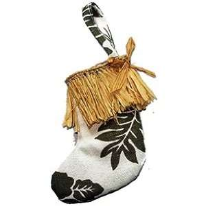 com Hawaii Christmas Ornament Green Floral Stocking Kitchen & Dining