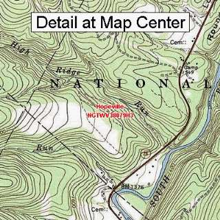 USGS Topographic Quadrangle Map   Hopeville, West Virginia