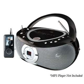 Coby CX CD230 Portable CD Player with AM/FM Radio   Black