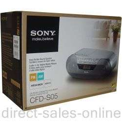 Sony CFD S05 Portable CD Radio Cassette Player Recorder