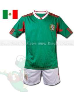 Wholesale Mexican Home Soccer Jersey Short Kit   DinoDirect