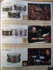 TAMA DRUM SET CATALOG! LARS ULRICH SNARE KIT HARDWARE +