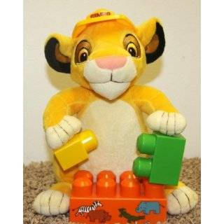 Retired Disney Lion King Baby Simba Cub 11 Construction Plush Block