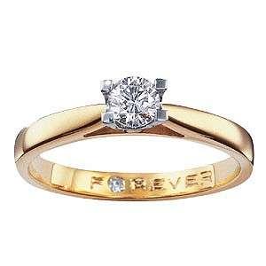 The Forever Diamond   18ct Gold 1/4 Carat Diamond Ring   H.Samuel the