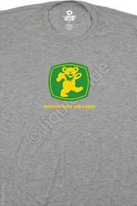 NEW Grateful Dead John Deere Bear Rock Band Premium T Shirt M L XL 2X