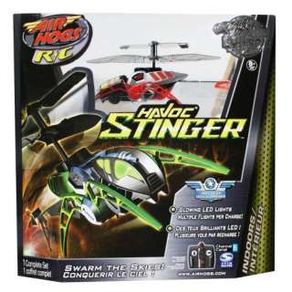 Air Hogs R/C Havoc Stinger Helicopter Red Grey Black Channel B Lipo