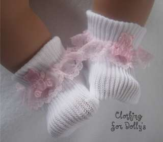 BABY DOLLS CLOTHES LACE SOCKS OUTFIT FIT 14  19 plS1