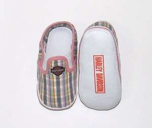 Harley Davidson Baby Girl Pre Walker Shoes Sneakers Plaid   Infant