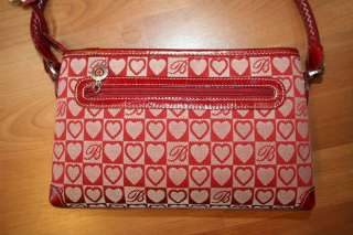 Brighton Red Heart Handbag Purse Shoulder Bag
