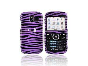 For Pantech Link Hard Case Cover Purple Black Zebra